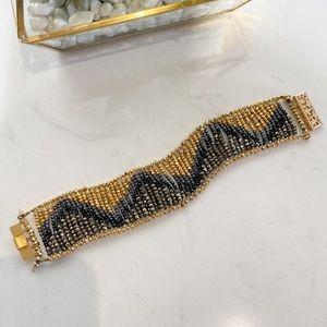 Beautiful Hand Beaded Flowing Ombré Bracelet